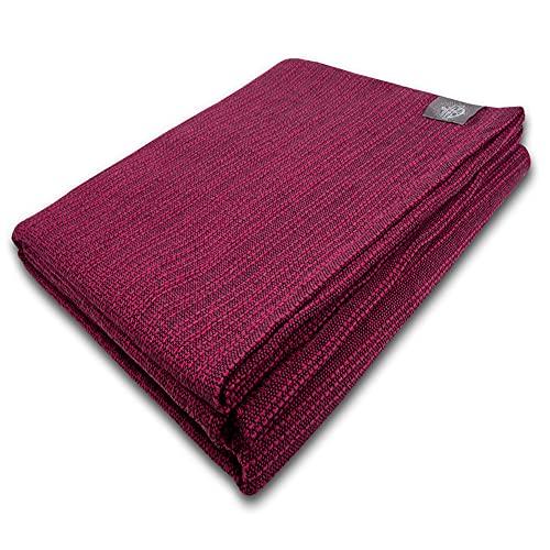 Craft Story Decke Yara I Uni Fuchsia aus 100% Baumwolle I Tagesdecke I Sofa-Decke I Überwurf I Picknickdecke...