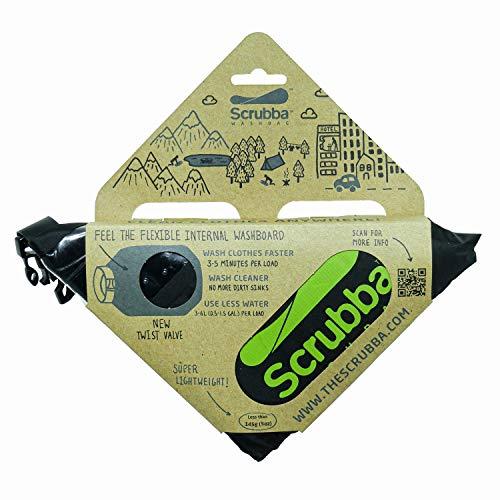 Scrubba Unisex Wash Bag 2.0 Outdoor Camping Waschmaschine | Waschtasche & Waschbeutel, schwarz, Regular Size
