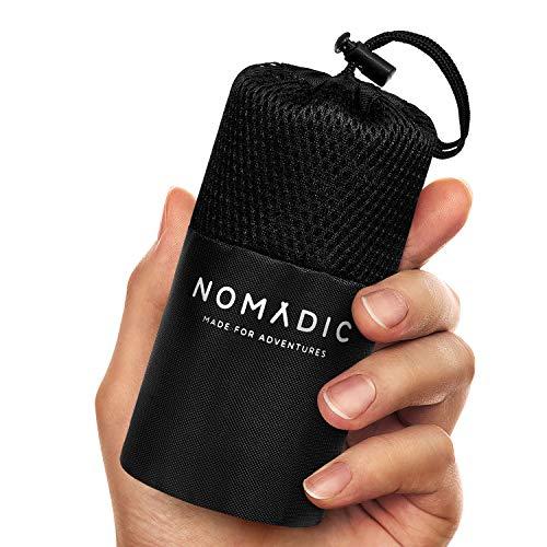 Nomadic Hüttenschlafsack aus Mikrofaser - Ultra Leicht, Klein und dünn. Reiseschlafsack,...