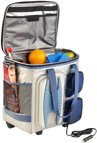 Xcase Kühltasche zum Ziehen: Thermoelektrische Kühltasche mit Trolley-Funktion, 40...