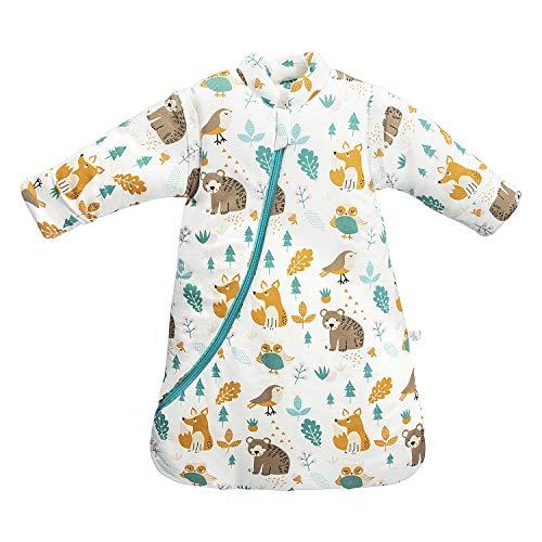 Baby Winter schlafsack Kinder schlafsack 3.5 Tog Schlafsaecke aus Bio Baumwolle...