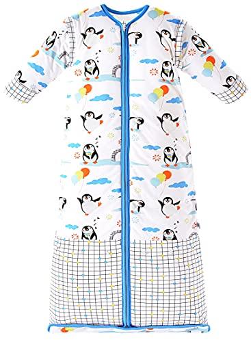 Chilsuessy Winter 3.5 Tog Kinder Schlafsack mit abnehmbaren Ärmeln Bio Babyschlafsack...