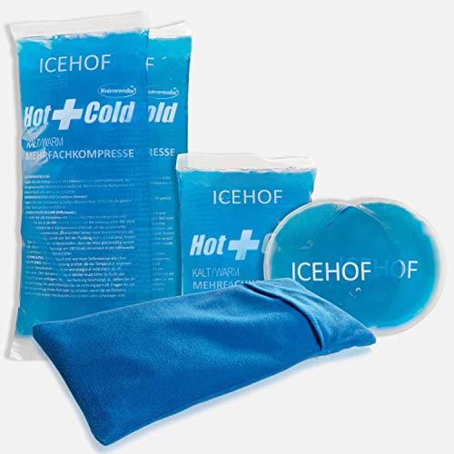 ICEHOF Kühlpads (5x) mit Vlies-Hülle - Kuschelweich, lange Kühldauer, verschiedene...