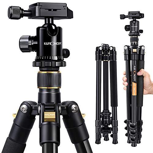 K&F Concept® TM2324 Kamerastativ Reisestativ Fotostativ Kamera Stativ für Canon Nikon...