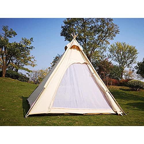 INSTRUMENT-AED Outdoor Camping Indisches Zelt Baumwollzelt 3-4 Personen Wasserdichtes...