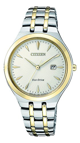 CITIZEN Damen Analog Solar Uhr mit Edelstahl Armband EW2494-89B