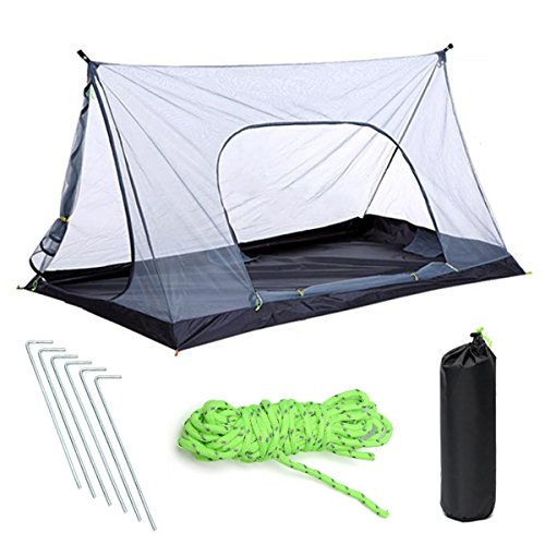 Slimerence Camping Leichtes Zelt, Mesh Camping Moskitonetz 1-2 Personen für Trekking, Camping, Outdoor,...