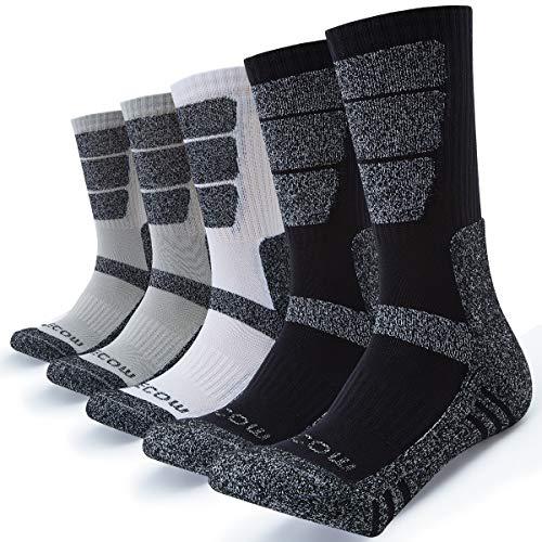 KEECOW Socken Herren 43-46 5 paar Wandersocken Trekkingsocken für Herren Atmungsaktiv...