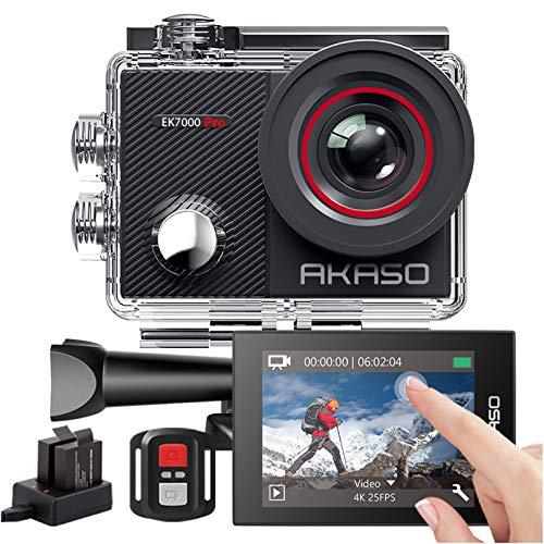 AKASO Action Cam 4K 20MP WiFi 40M Unterwasserkamera Wasserdicht Ultra HD Touchscreen...