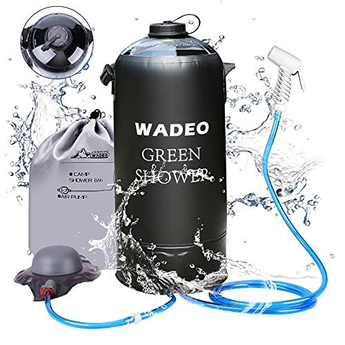 WADEO Campingdusche mit Pumpe, Druckdusche Dusche Tasche Reisedusche 12 Liter mit...