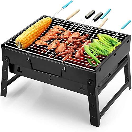 Uten Grill BBQ Portable Holzkohlegrills, Faltbare Grillwagen Outdoor Tischgrills Tragbar...