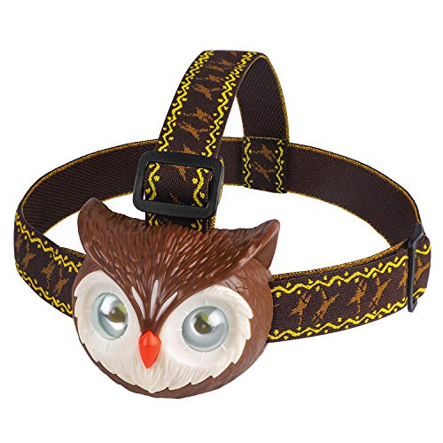 DX DA XIN DAXIN Eule LED Stirnlampe für Kinder, Eule Spielzeug LED Kopflampe mit Roar...