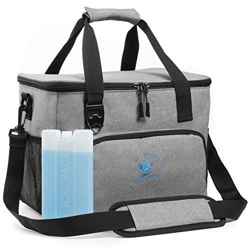 Obics Kühltasche grau 20l klein cool Bag für Arbeit, Lunchtasche Kühlbox fürs...