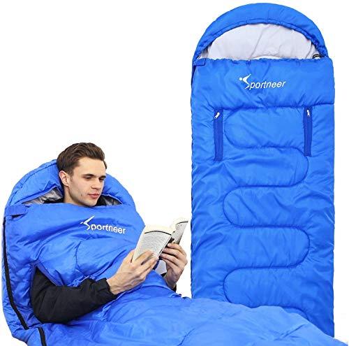 Schlafsack, Sportneer Anziehbarer Deckenschlafsäcke 220 x 84 cm tragbarer...