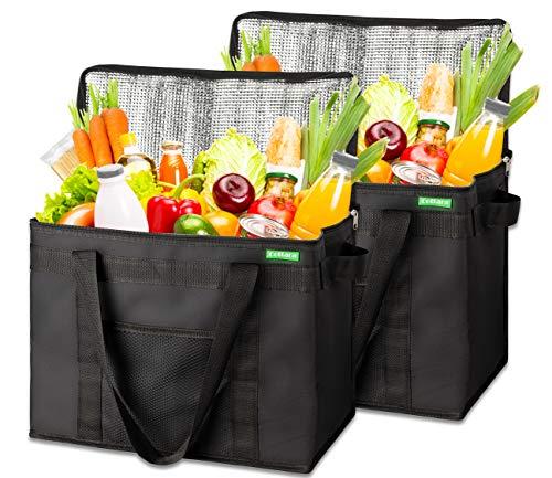 COTTARA Neu Premium Kühltasche faltbar 2er Pack – Einkaufstasche groß mit verstärktem...