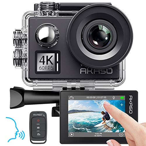 AKASO Action cam 4K/60fps /Action Kamera 20MP WiFi mit Touchscreen EIS 40M...