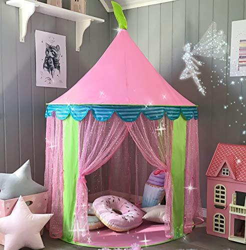 Kinderzelt Prinzessin Spielzelt für Mädchen - Glitzer Castle Kinderzimmer mit...