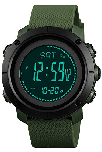 Findtime Herren Uhr Digital Quarz Silikon Kompass Schrittzähler Barometer Höhenmesser...