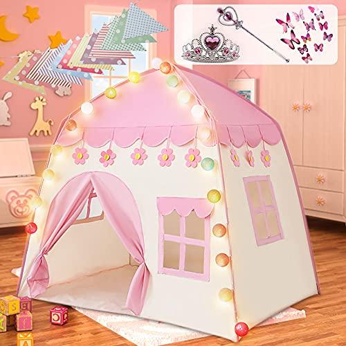 Labeol Kinderspielzelt für Mädchen Prinzessin Spielzelt Kinderzimmer für Drinnen...