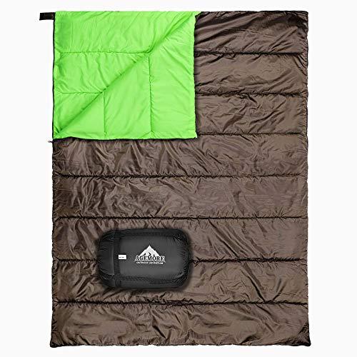 Doppelschlafsack für Camping, wasserdicht, leicht, für 2 Personen, für Erwachsene, für Rucksackreisen,...