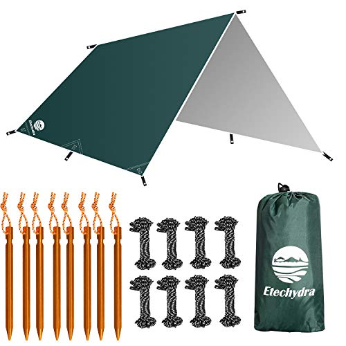 Etechydra Zeltplane Wasserdicht 3 x 3m, Zeltplane Sonnensegel für Camping Ourdoor,...
