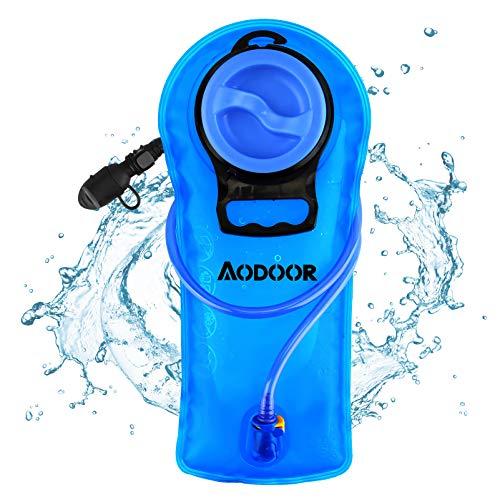 AODOOR Trinkblase, 2 Liter Wasserblase mit Schlauch, Hydration Bladder Trinkbeutel für...