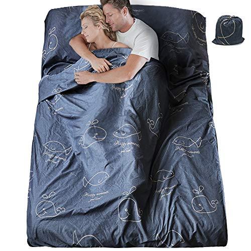 SueH Design Schlafsack mit Doppeltem Schlafsack, 230 x 180 cm, Lang und Leicht für...