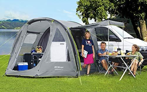 BERGER Busvorzelt Touring Easy-L Reisemobilvorzelt aufblasbar Teilvorzelt Vorzelt Zelt...