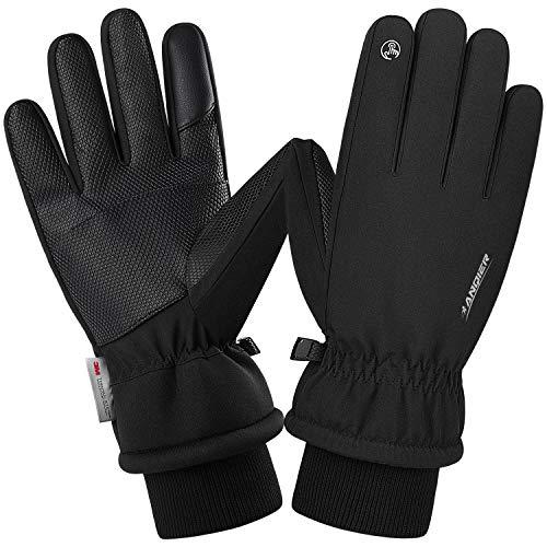 Anqier Warm Winterhandschuhe wasserdichte Touchscreen Handschuhe Fahrradhandschuhe...