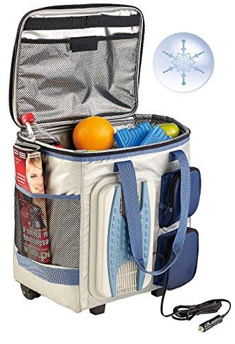 Xcase Kühltasche zum Ziehen: Thermoelektrische Kühltasche mit Trolley-Funktion, 40 Liter, 12 Volt...