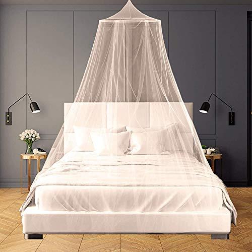 SZHTFX Weißes Moskitonetz für Betthimmel, großes Kuppelbett zum Aufhängen, Zelt für...