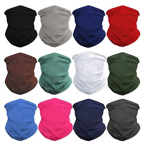 GUIFIER 12 Stück Nahtlose Bandanas Gesicht Maske Stirnband...