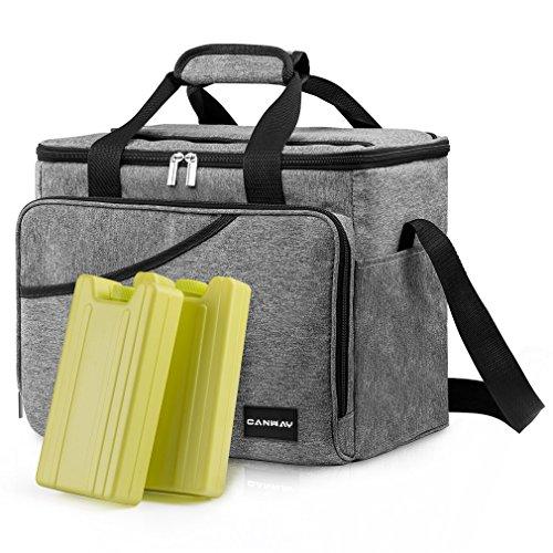 CANWAY Faltbar Thermotasche Picknicktaschen Cooler Bag Kühltasche 40-Dosen Große...