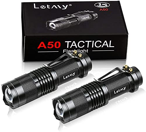 Mini LED Taschenlampe, PUAIDA Superhelle Zoombar LED Taschenlampen mit 3 Modi,...