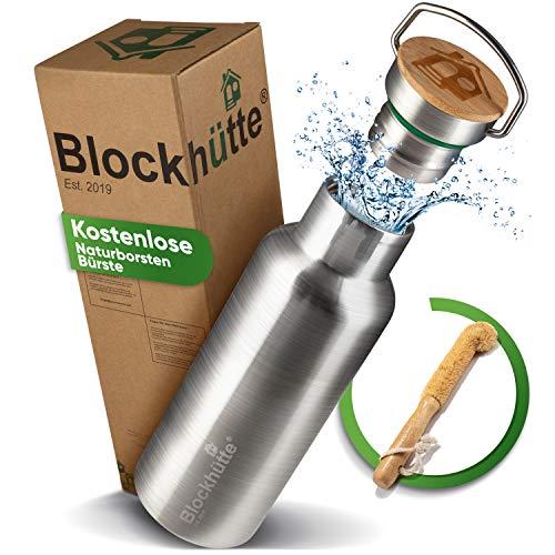 Blockhütte Premium Edelstahlflasche
