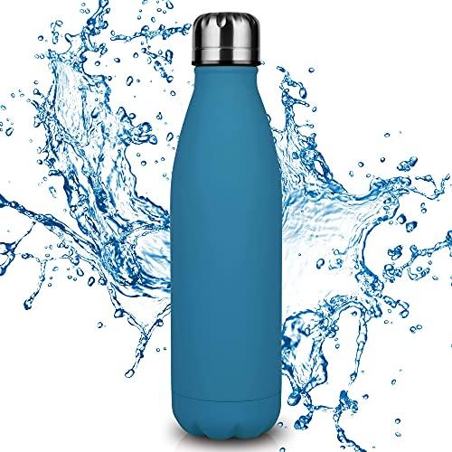 Nasharia Edelstahl Trinkflasche, Vakuum Isolierte Wasserflasche - 500/750ml - BPA Frei,...