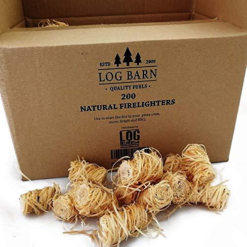 Holzwolle, natürliche Holzfeuer-Anzünder, umweltfreundlich, 200 Stück pro Packung,...