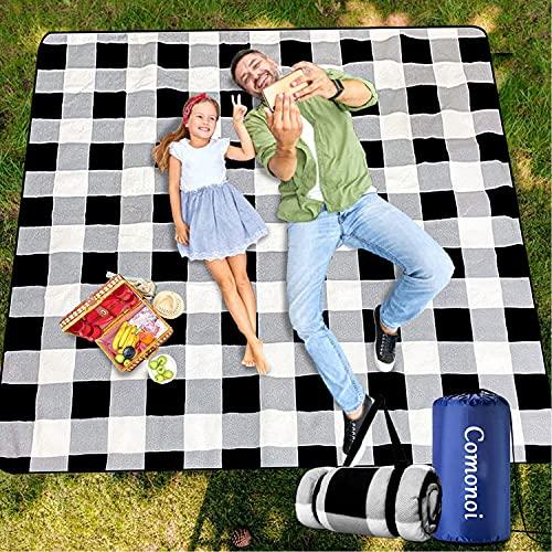 Picknickdecke 200 x 200 cm Picknickdecke Wasserdicht Strandmatte Picknickdecke XXL Outdoor...