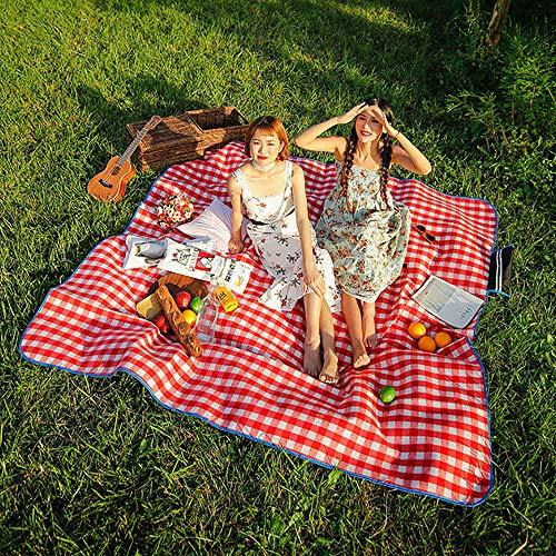SKYSPER Picknickdecke Wasserdicht 200x200CM Stranddecke isolierte Picknickmatte...