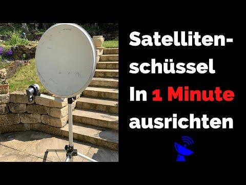 """Satellitenschüssel in nur 1 Minute zuverlässig ausrichten !! mit kostenloser App """"Satellite Finder"""""""