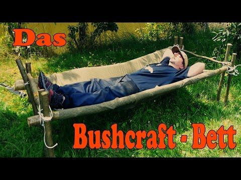 Das Bushcraft Bett aus einer Plash Palatka / NVA-Plane